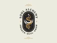 SA Logo vector texture illustration stars snake moon energy mystical identity branding logo