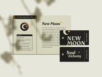 SA Ritual Cards vector texture stars moon gold hang tag print ritual mystical postcard