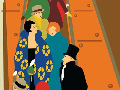 Working on restoring and old Underground poster underground london poster