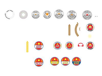 Logo design process propaganda circle communism soviet