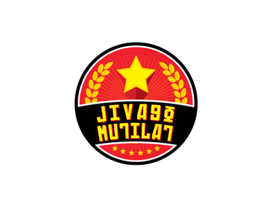 Jivago Mutilat propaganda jivago soviet communism logo design