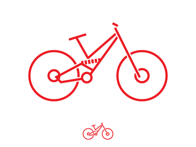 Downhill Bike icon illustrator downlhill racing bike icon