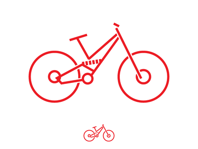 Downhill Bike icon illustrator downlhill racing bike icon
