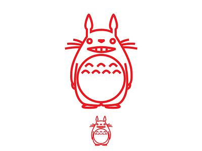 Totoro illustrator icon totoro