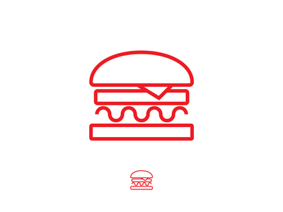Burger Icon simple lines line vector illustrator illustration icon burger