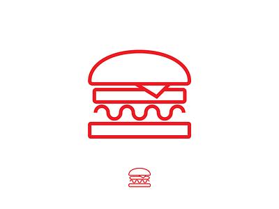 Burger Icon simple lines line vector illustrator illustration icon burger