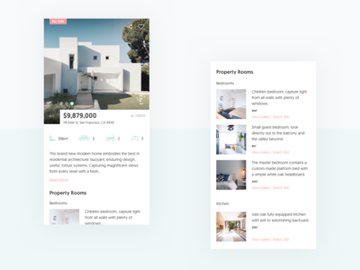 Real Estate App (Preview) product view estates 360 view 360 degree real estate web design app app concept ui web design