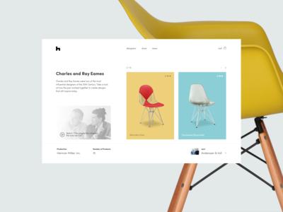 Ecommerce Furniture Designer's Page