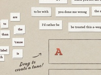 Drag paper cuts and write your own lyrics