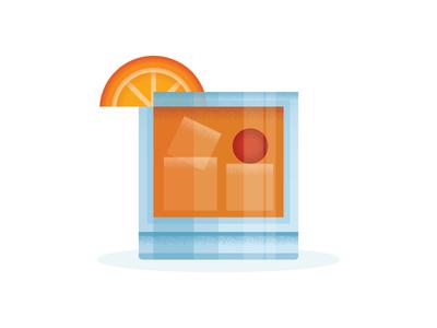 The Don Draper ;) orange graphic composition alcohol illustration texture icon design old fashion don draper mad men icon drink