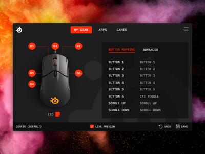 Steelseries App Engine app ui steelseries
