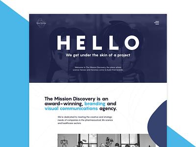 Agency Concept agency blue concept web