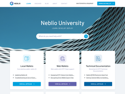 Neblio Knowledgebase concept cryptocurrency crypto knowledgebase blockchain