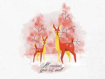 Holiday Sketching - Deer