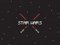 Starwars Bitmap Red Lightsabers
