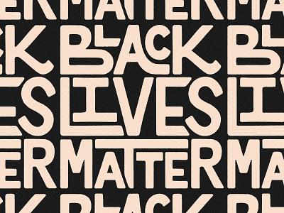 Black Lives Matter blacklivesmatter lettering design letters logo colors typography