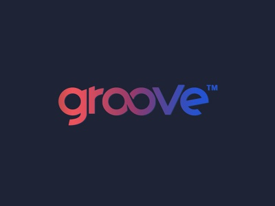 Groove colors letters typography gradients groove design logo