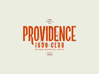 Providence Judo Club 401 mma colors letters lockup type typography club judo rhode island ri providence