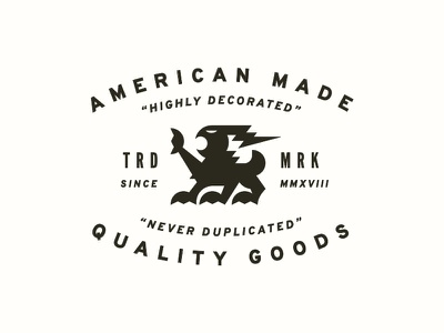 WIP Lockup wip highly decorated logo design logo icon trademark design lockup typography illustration quality goods american made