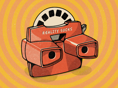 Reality Sucks design digital illustration reality texture wacom photoshop illustration reality sucks viewmaster9000 viewmaster