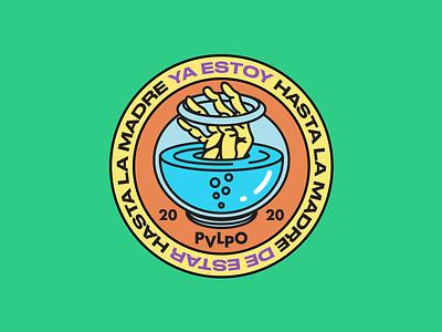 Hasta la madre ahogar hasta la madre pecera cuarentena 2020 hand logo illustrator digital vector design illustration
