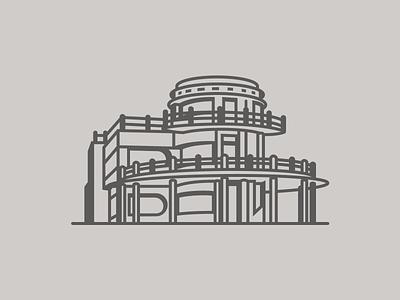 La Casa del Pastel mexico progreso yucatan yucatan art deco playa beach arquitectura casa architecture house illustrator digital vector design illustration