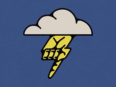 The Hand of God hand of thunder hand of god cloud thunder god logo illustrator vector digital design illustration