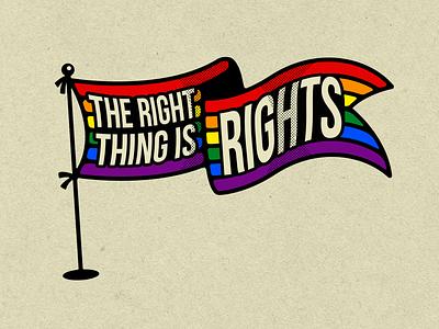 STATEMENT 001 halftone texture love is love the right thing lgbt rainbow flag rights lgbtq logo wacom illustrator vector digital design illustration