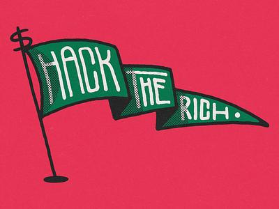 STATEMENT 002 dollar statement bitcoin internet hacker millionarie money tax the rich hack the rich eat the rich rich flag wacom photoshop digital illustration