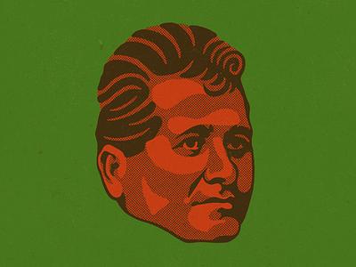 Felipe Carrillo Puerto mexico head face halftone texture retrato portrait mayan mayas socialista socialismo yucatan felipe carrillo puerto wacom photoshop digital illustration