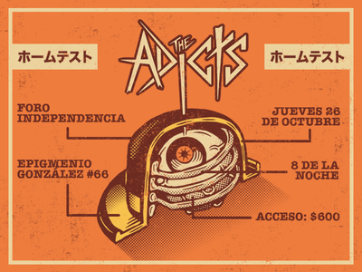Gig Poster for The Adicts