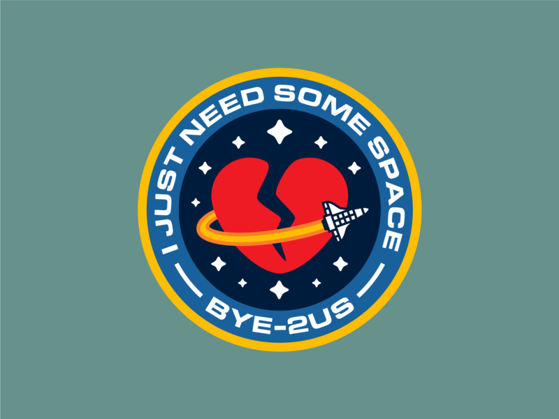 Space patches for failed missions patch design patches sad breakdown stars love astronaut mission failed mission space mission spaceship space wacom digital illustrator vector design illustration