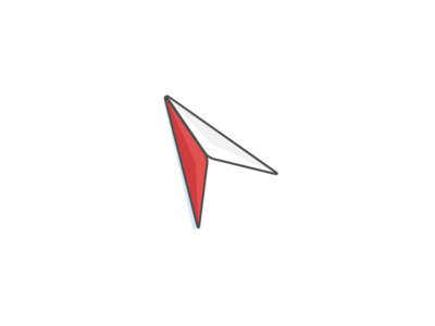 Direction Icon illstration flat icon
