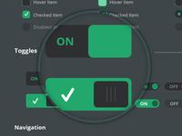 Free  Mega Flat Style UI Kit PSD -Vertical Infinity