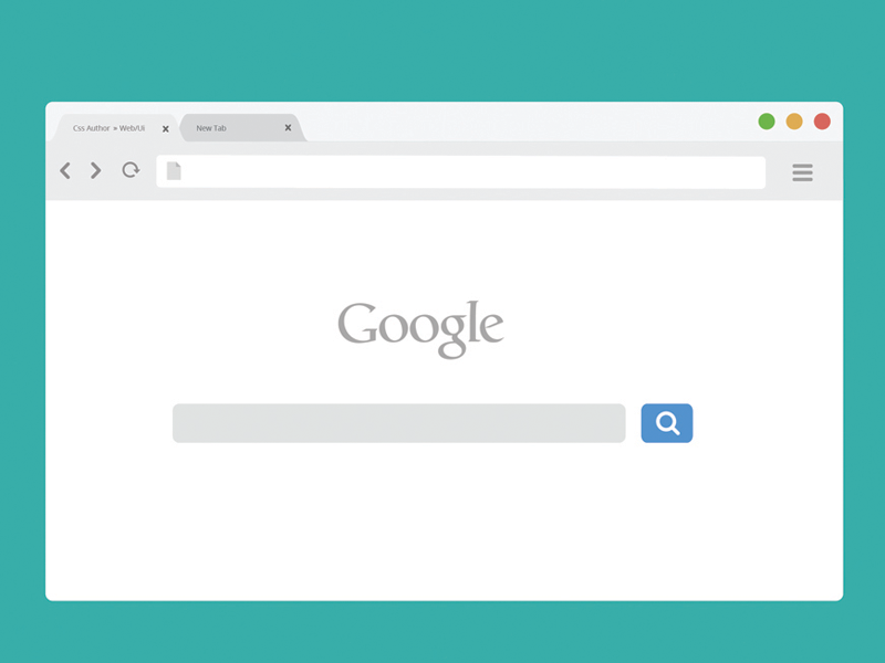 Free Chrome Browser Mockup Light Version By Arun