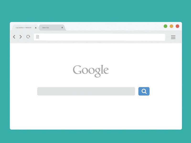 Free Chrome Browser Mockup - Light Version  chrome mockup