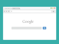 Free Chrome Browser Mockup - Light Version