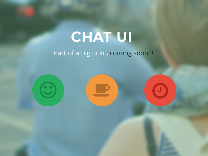 Chat Ui (Part of Up coming UI KIT ) chat ui