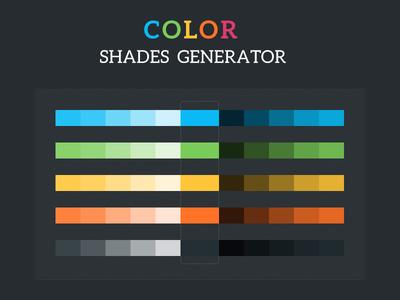 Colour Shades Generator PSD color color palette psd