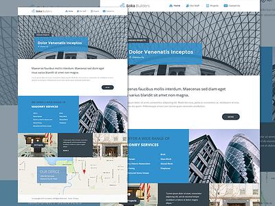 Soka Builders - Landing Page  landing page web