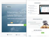 Cloudsblazing App - Landing Page