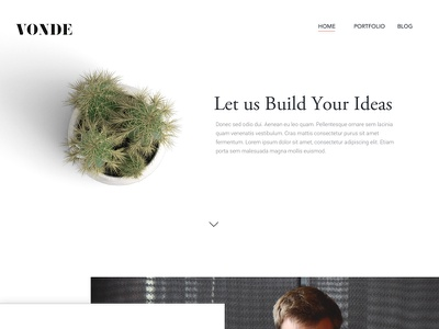 Landing Page For Vonde web page landing