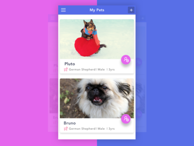 Pet Management App ios ui app