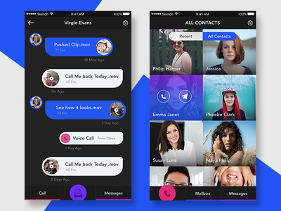 Messaging & Contacts chat contacts ios ui app