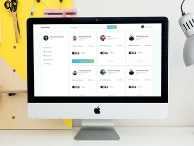 Simple Dashboard Concept ux design clean app gradient ui dashboard