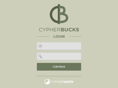 Cypherbucks login splash logo money currency reward