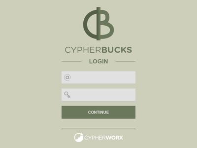 Cypherbucks login splash logo money currency reward