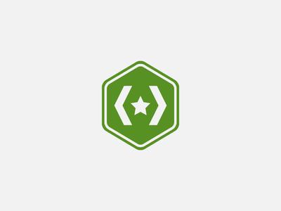 Dev Badge development badge unlock pin military army green