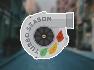 Turbo Season turbo sticker car fall autumn auto