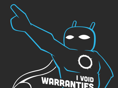 Cid the Hero cyanogenmod android tshirt t-shirt superhero outline